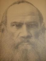 `Прижизненный портрет Графа Л.Н.Толстого, созданный из мельчайших букв повести  Крейцерова соната .` .