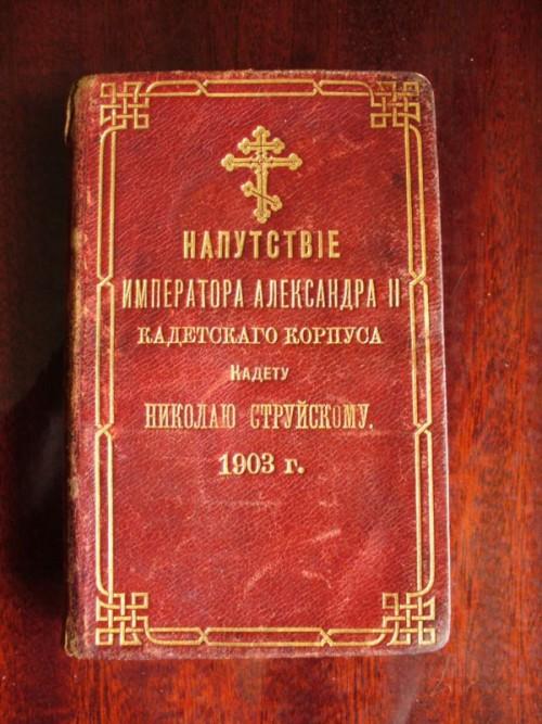`Напутствие Императора Александра II кадетского корпуса калету Николаю Струйскому.` . 1903