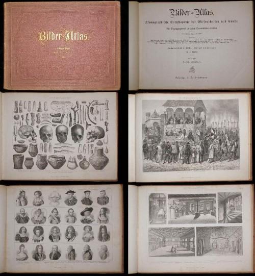 `BILDER - ATLAS` Август фон Ене. 1875 ЛЕЙПЦИГ