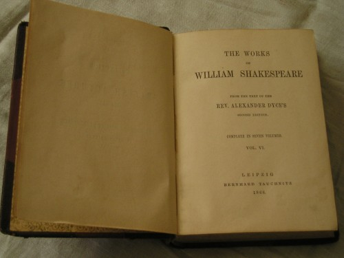 `WILLIAM SHAKESPEARE` REV. ALEXANDER DYCE'S. 1868