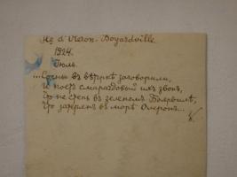 `Фотография К.Д.Бальмонта с его собственноручным стихотворным автографом` . 1924 г.
