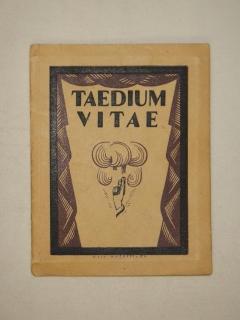 `Taedium vitae. Стихи` Михаил Глушков. Киев, Издание И.М.Слуцкого, 1922г.