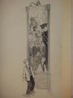 `Двенадцать оригинальных подлинных рисунков Г.А.Мазурина ( бумага, акварель, белила, тушь, перо ) к книге С.В.Михалкова  Дядя Стёпа - милиционер .` .