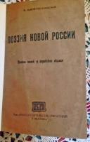 Поэзия Новой России. В.Львов-Рогачевский. Москва, 1919 г
