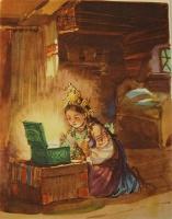 `Малахитовая шкатулка` П.Бажов. ОГИЗ, Государственное издательство  художественной литературы, 1948 г.