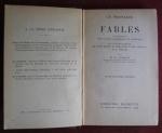 `Fables` Jean de La Fontaine. Librairie Hachette, 1928