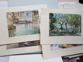 `Коллекция акварелей` Художественный альбом. Китай, Шанхай, середина XX Века