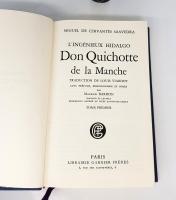 `Don Quichotte de la Manche (Дон Кихот Ла-Манческий)` Miguel de Cervantes Saavedra (Мигель де Сервантес Сааведра). Paris, Librairie Garnier Freres XX век