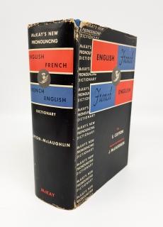 `A new dictionary of the french and english languages. Nouveau dictionnaire anglais-Francais et Francais-Anglais` E.Clifton J.McLaughlin. New York, David McKAY company