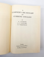 `A learner's dictionary of current english (Словарь современного английского языка для учащихся)` A. S.Hornby, E.V.Gatenby,  H.Wakefield. London, Oxford University Press, 1951