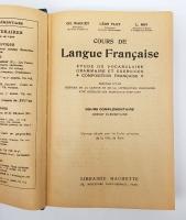 `Cours de Langue Francaise, etude du vocabulaire grammaire et exercices, composition francaise. Cours Complementaire brevet elementaire` Ch.Maquet, L.Flot, L.Roy. Paris, Hachette, 1921