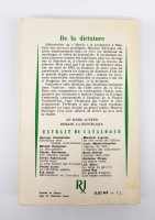 `De la dictature (Диктатура)` Maurice Duverger (Морис Дювергер). Paris, Julliard, 1961