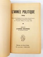 `L'anne politique, conomique, sociale et diplomatique en France (Политический, экономический, социальный и дипломатический год во Франции)` . Paris, Editions du Grand Siecle, 1944 - 1945, 1946, 1947, 1948