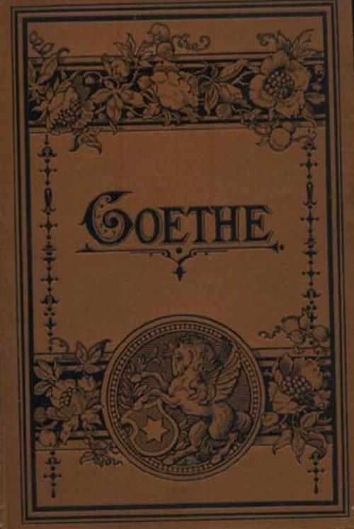 `Сборник стихов и рассказов` Гете. Конец 19 века Лейпциг