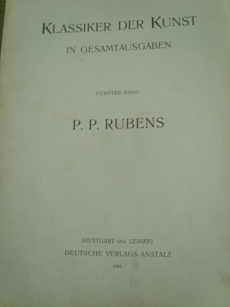 `Рубенс живопись.` рубенс альбом 500 стр,. 1905 штутгарт, лейпциг.