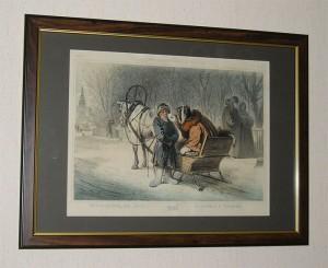 Антикварная книга: Зима. Литография с рисунка К.А.Трутовского. СПб., печатано в литографии В.Тимма, 1860 год