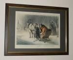 Зима. Литография с рисунка К.А.Трутовского. СПб., печатано в литографии В.Тимма, 1860 год