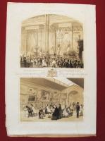 Часть промышленного и художественного отделений России на лондонской всемирной выставке 1862 года. Литография В.Тимма. 1862 год