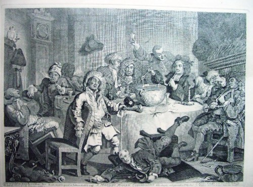 "����������������.��: ""A Midnight modern conversation ""( ���������� ��������). Hogarth."
