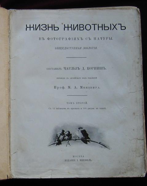 `ЖИЗНЬ  ЖИВОТНЫХ  В  ФОТОГРАФИЯХ  С  НАТУРЫ` Ч. Корниш. 1910 год   Москва