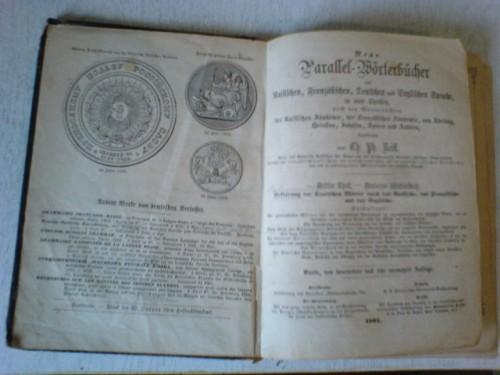 `Параллельный словарь` Карл Филипп Рейф. 1861 г.