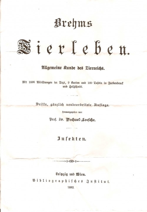 `Жизнь животных` Брем. 1893 г.и., Лейпциг