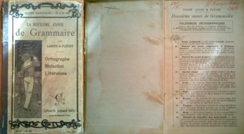 `Deuxieme annee de Grammarie` Larive & Fleury. 1907, 5 rue de Mezieres, Paris