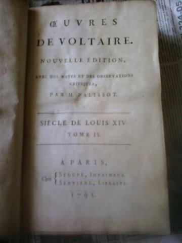 `Век правления короля Людовика 14` Вольтер. 1792 год, Париж