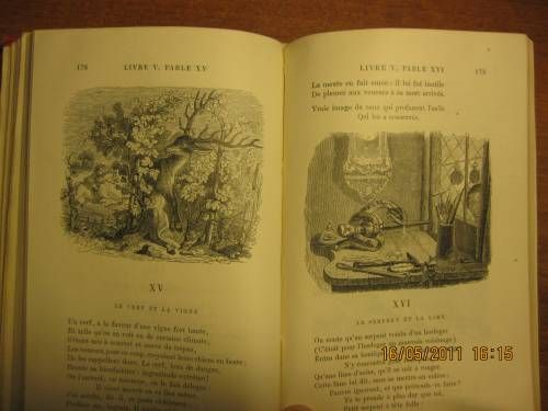 `Fables De La Fontaine` La Fontaine. 1887 г.