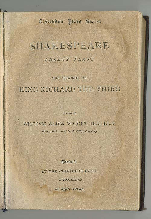 "Антикварныекниги.рф: The tragedy of "" KING RICHARD THE THIRD"". Shakespeare."