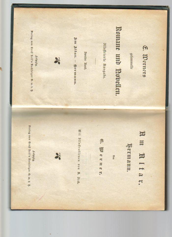 `Собрание сочинений. Том II.` E. Werners.. Лейпциг. Год