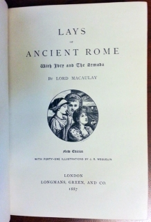 Lays of Ancient Rome. London,  1887