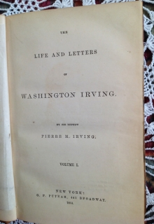 The life and letters of Washington Irving. New York,  1864
