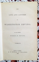 `The life and letters of Washington Irving` Pierre M. Irving. New York,  1864