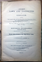 Древние законы и институты Англии.  Ancient laws and institutes of England. . MDCCCXL, London, 1840