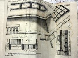 `Современный инженер, или испытания укреплений. (L'ingenieur moderne, ou Essai de fortification)` Ше Фредерик-Анри Шерлее в А-ля Гааге. (Par. le Baron F.D.R). Изданная в 1744 году