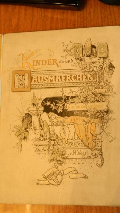 `Kinder-und Hausmarchen` Братья Гримм. 1892г.Munchen