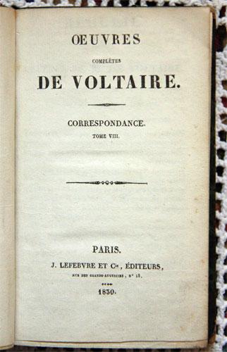 `Oeuvres compleres de Voltaire. Tom VIII` Volter. Paris? 1830