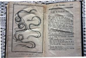 `Естественная история змей (Histoire naturelle des serpens)` Граф де Lacepede (Par M.le Comte De La Cepede). Париж, 1790 г.
