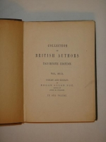 `Poems and essays by Edgar Allan Poe ( Поэмы и эссе Эдгара Аллана По )` Edgar Allan Poe. Leipzig: Bernhard Tauchnitz, 1884