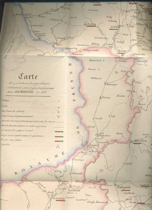 `Memoires sur la campagne de Lithuanie` La general Henri Dembinski. Strasburg, 1832