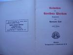 `Gedanken aus Goethes Werken` Verlagsanstalt F. Brucrmann A.G.. Приблизительно 1795-1830 Мюнхен