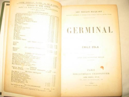 `Жерминаль` Эмиль Золя. Париж 1904 год