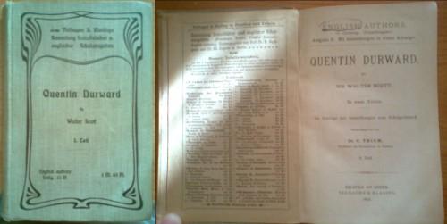 `Quentin Durward` Walter Scott. 1896, BIELEFELD und LEIPZIG