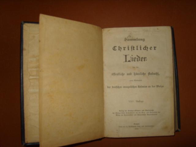 `Sammlung Chriftlicher Lieder` . 1914г., Москва