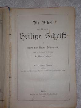 `Die Bibel` . 1912,  Berlin