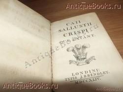 `Сочинение на латыни` Саллюстий Крисп. 1744 год